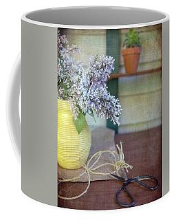 Lilacs In Yellow Vase Coffee Mug