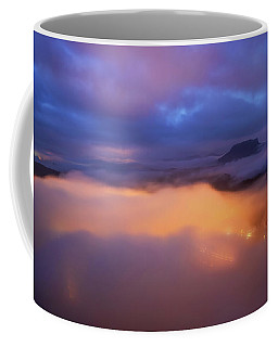 Lilienstein Night View, Saxon Switzerland, Germany Coffee Mug