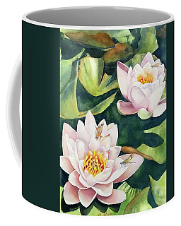 Lilies And Dragonflies Coffee Mug