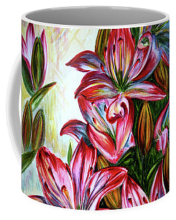 Coffee Mug featuring the painting Lilies by Harsh Malik