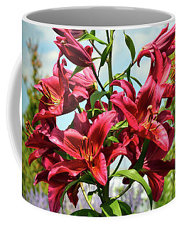 Coffee Mug featuring the photograph Lilies In The Garden by Kerri Farley