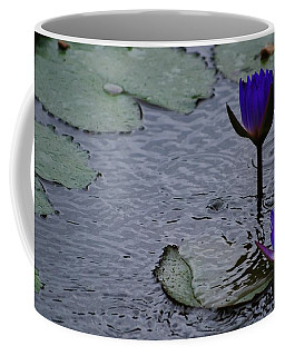 Coffee Mug featuring the photograph Lilies In The Rain by Amee Cave