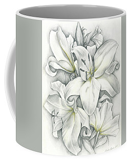 Lilies Pencil Coffee Mug