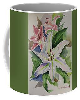 Lillies Watercolor Still Life Coffee Mug