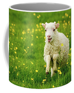 Coffee Mug featuring the photograph Lilly The Lamb by Joan Davis