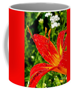 Lily And Raindrops Coffee Mug