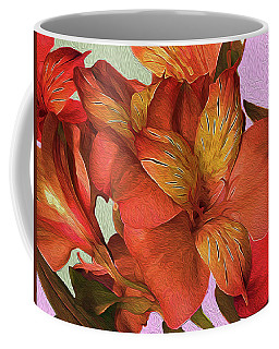 Lily Bouquet In North Light Coffee Mug