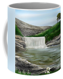 Coffee Mug featuring the digital art Lily Creek by Mark Taylor