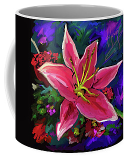 Coffee Mug featuring the painting Lily by DC Langer