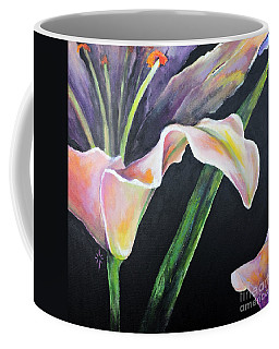 Coffee Mug featuring the painting Lily by Jodie Marie Anne Richardson Traugott          aka jm-ART