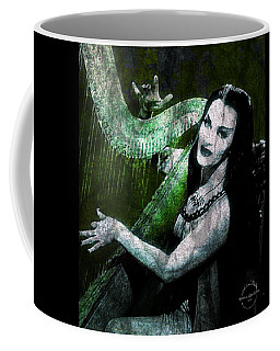 Coffee Mug featuring the digital art Lily Munster Gothic Harp by Absinthe Art By Michelle LeAnn Scott