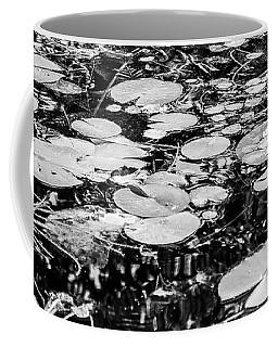 Lily Pads, Black And White Coffee Mug