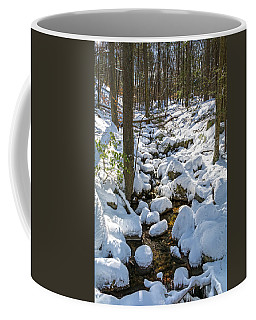 Lily Pads Of Snow Coffee Mug