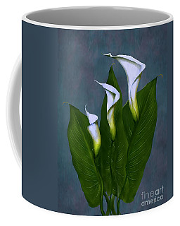 Coffee Mug featuring the painting White Calla Lilies by Peter Piatt