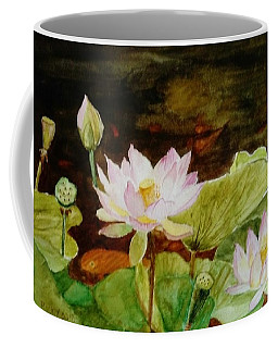 The Lily Pond - Painting  Coffee Mug