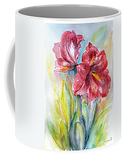 Lily Red Coffee Mug by Jasna Dragun