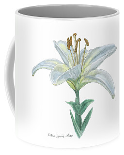 Lily Watercolor Coffee Mug