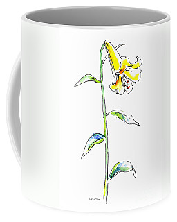 Coffee Mug featuring the painting Lily Watercolor Painting 2 by Gordon Punt