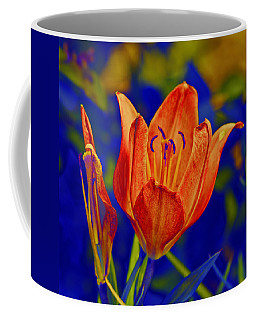 Coffee Mug featuring the photograph Lily With Sabattier by Bill Barber