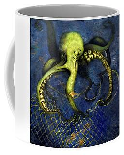 Lime Green Octopus With Net Coffee Mug