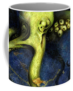Lime Green Octopus With Net Coffee Mug