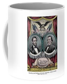 Lincoln And Johnson Election Banner 1864 Coffee Mug