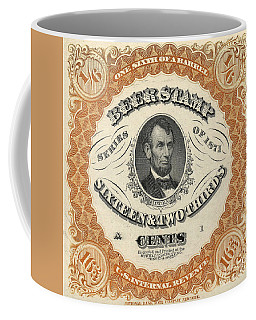 1871 Lincoln Beer Tax Stamp Coffee Mug