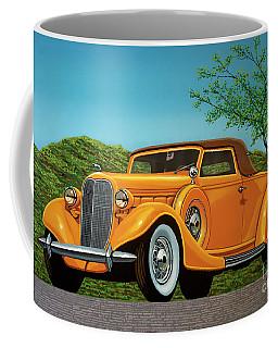 Lincoln K Convertible 1935 Painting Coffee Mug