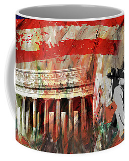 Coffee Mug featuring the painting Lincoln Memorial And Lincoln Statue by Gull G