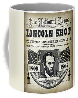 Lincoln Shot Headline  Coffee Mug