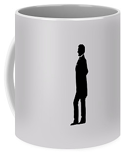 Lincoln Silhouette And Signature Coffee Mug