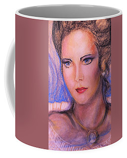 Coffee Mug featuring the pastel Linda Carter by Denise Fulmer