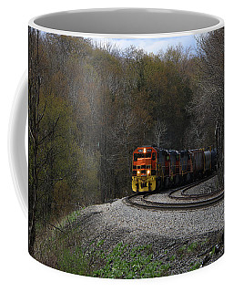 Coffee Mug featuring the photograph Lindholm Train by Rick Morgan
