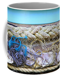 Coffee Mug featuring the photograph Line Of Debris II by Stephen Mitchell