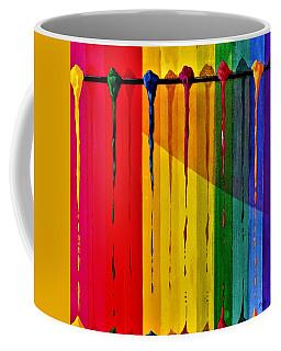 Line Of Fall Colors Coffee Mug