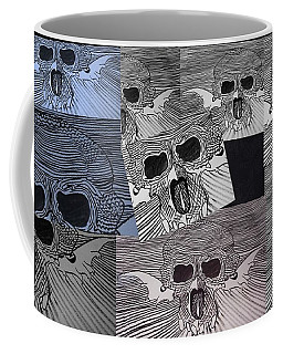 Line Skulls Collage Coffee Mug