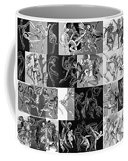 Coffee Mug featuring the drawing Movimento by Judith Kunzle