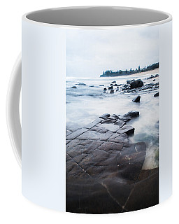 Coffee Mug featuring the photograph Lines In The Rocks by Parker Cunningham