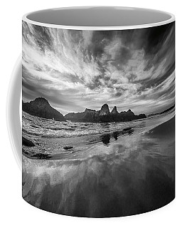 Lines In The Sand At Seal Rock Coffee Mug
