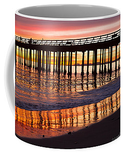Sunset Seacliff Shadows Coffee Mug