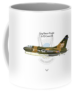 Ling-temco-vaught A-7d Corsair Coffee Mug by Arthur Eggers