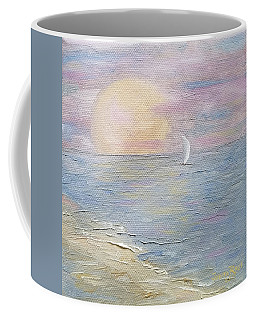 Coffee Mug featuring the painting Lingering Freedom by Judith Rhue