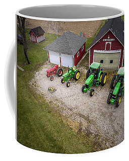 Lining Up The Tractors Coffee Mug