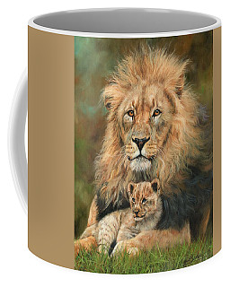 Lion And Cub Coffee Mug