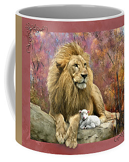 Lion And The Lamb Coffee Mug