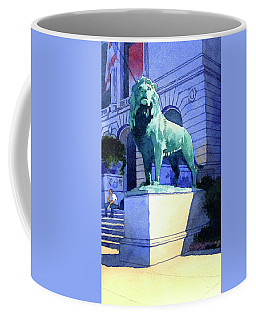 Lion At The Art Institue Of Chicago Coffee Mug