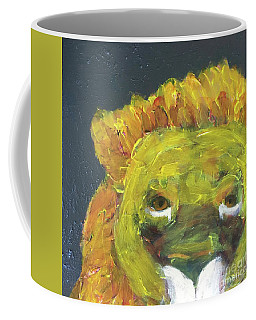Coffee Mug featuring the painting Lion Family Part 1 by Donald J Ryker III