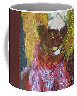 Coffee Mug featuring the painting Lion Family Part 4 by Donald J Ryker III