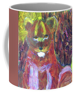 Coffee Mug featuring the painting Lion Family Part 5 by Donald J Ryker III