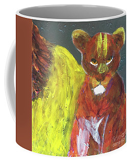 Coffee Mug featuring the painting Lion Family Part 6 by Donald J Ryker III